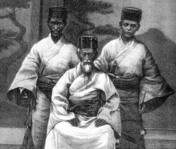king with karate bodyguards