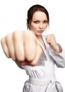 Karate girl beginner